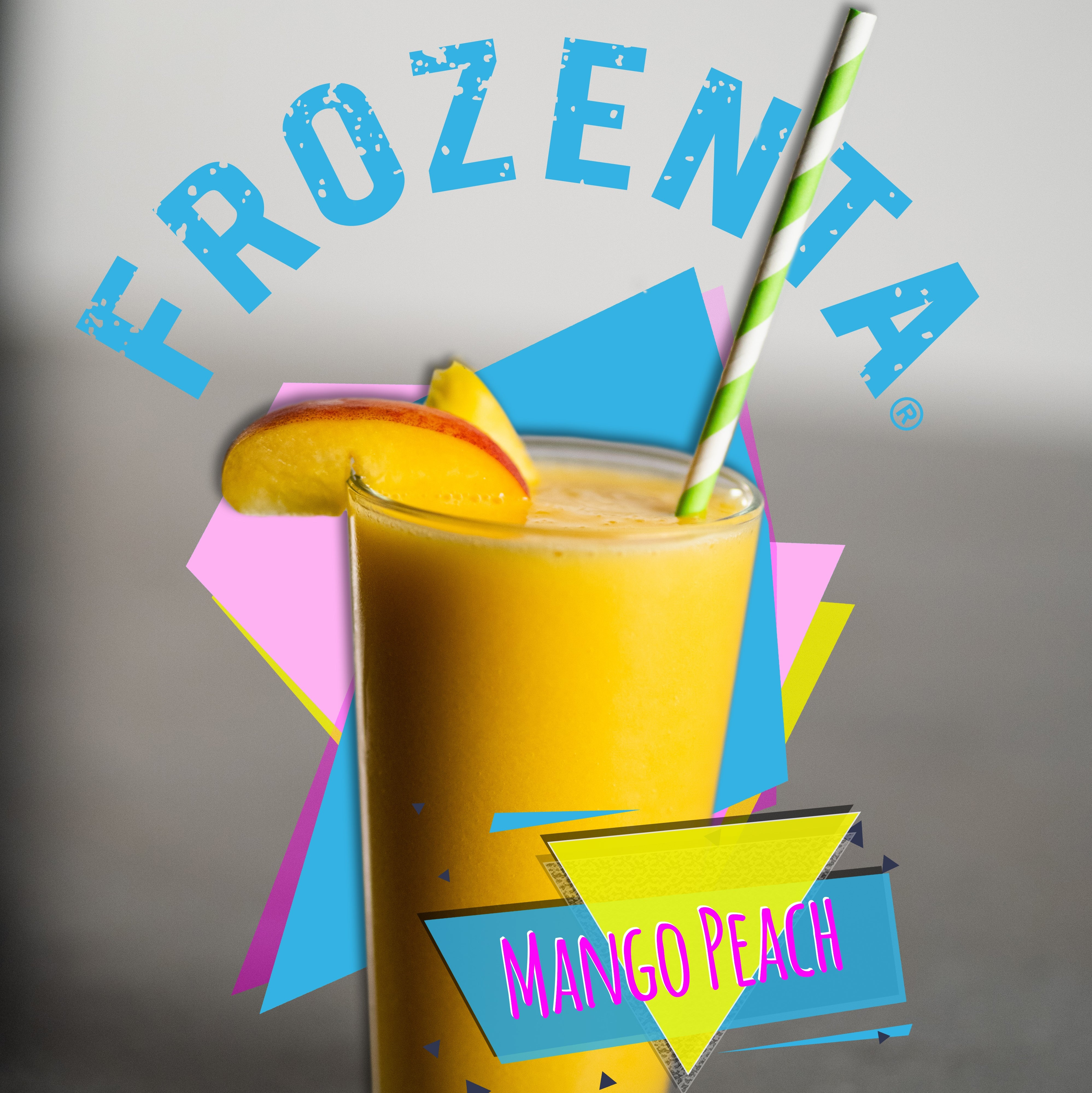 Photo of a Frozenta mango peach smoothie