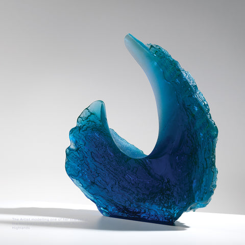 Corryvreckan, cast glass by Charonne Ruth