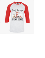 Cant keep calm adult unisex raglan