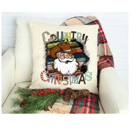 Country christmas pillow cover