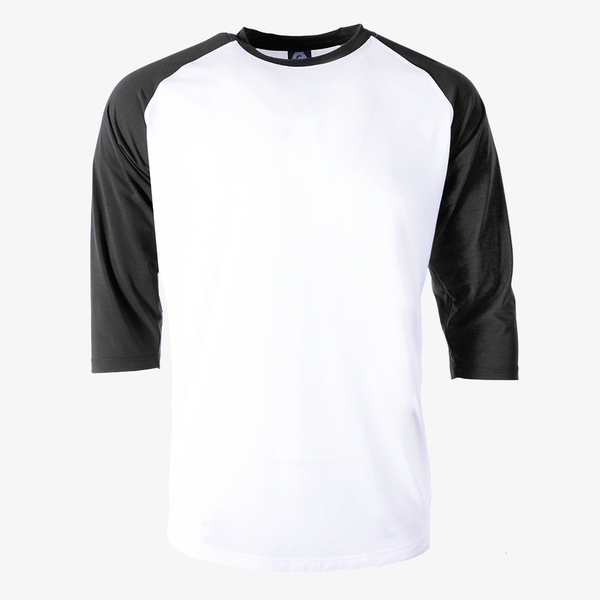 Varsity 3/4 baseball jersey black sleeves white body