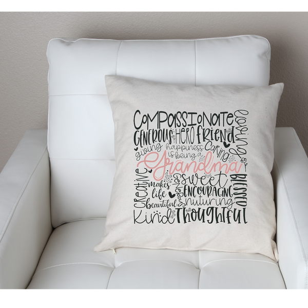 grandma subway art pillow cover