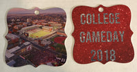 Game Day aluminum Prague shaped ornament with stadium and fans