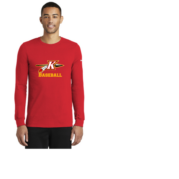 Practice Nike Dri-FIT Cotton/Poly Long Sleeve Tee
