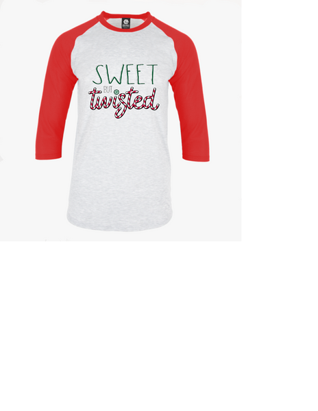 Sweet but Twisted adult unisex raglan
