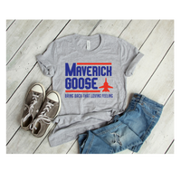 Maverich and goose- Plastisol print