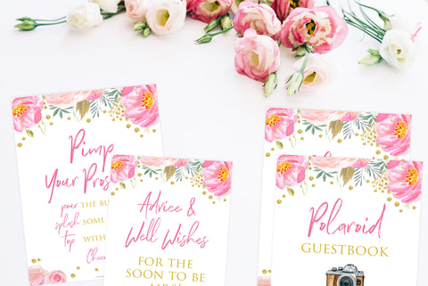 Blush & Gold Signs