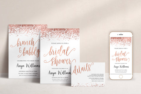 Rose Gold Invitations