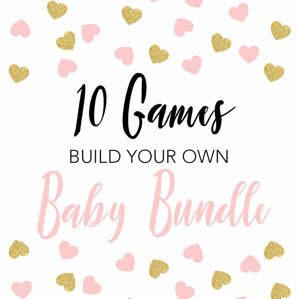 10 build your own baby shower games, printable baby shower games, fun baby shower games, popular baby shower games