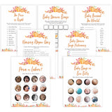 Fall pumpkin baby games, 7 fall pumpkin baby games, printable baby games, fall baby shower, pumpkin baby shower, autumnal baby games, top 10 baby games, best baby games