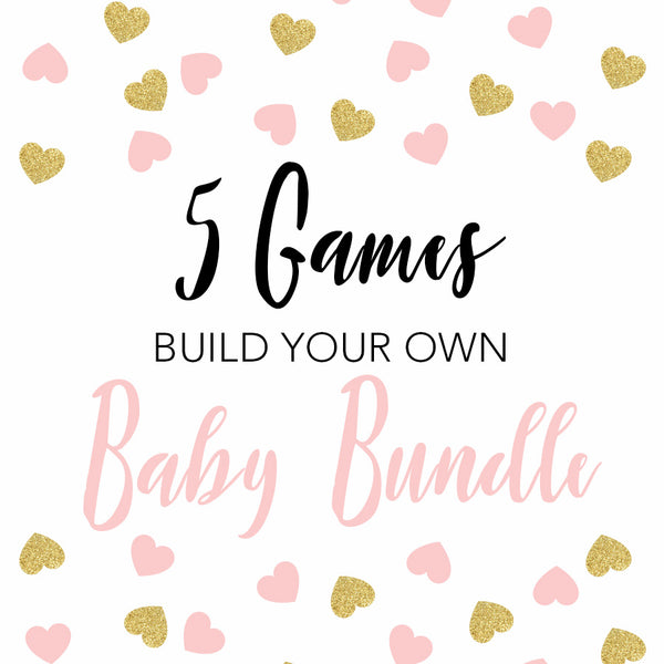 5 baby shower games, build your own baby shower games, printable baby shower games, fun abby shower games, popular baby shower games