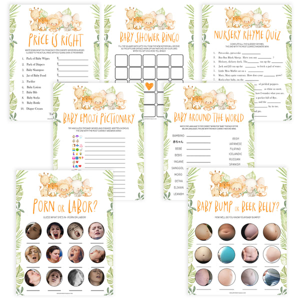 7 baby shower games, Printable baby shower games, safari animals baby games, baby shower games, fun baby shower ideas, top baby shower ideas, safari animals baby shower, baby shower games, fun baby shower ideas