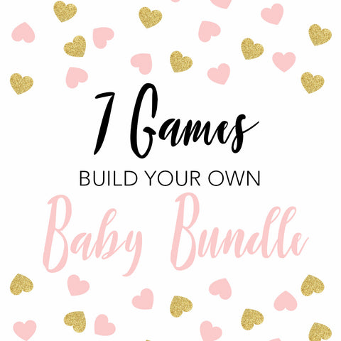 7 build you own baby shower games, printable baby shower games, fun baby shower games, popular baby shower games