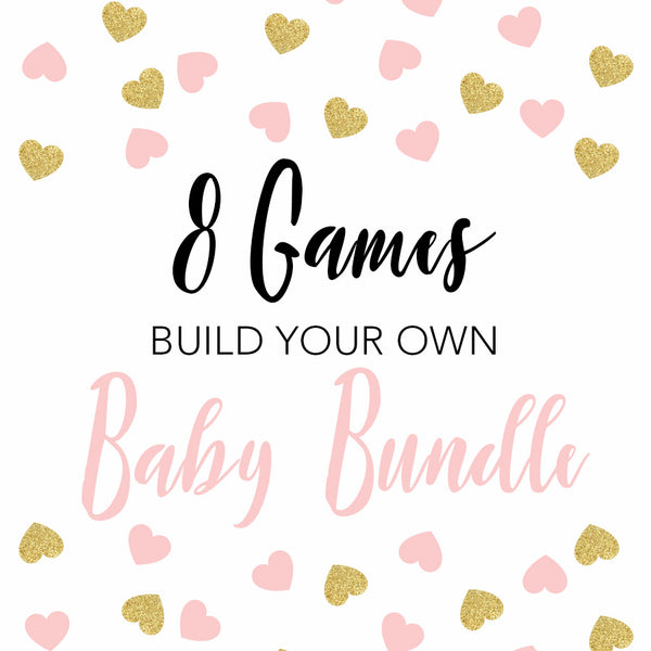 8 build your own baby shower games, printable baby shower games, fun baby shower games, popular baby shower games, hilarious baby shower games