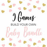 9 build your own baby shower games, fun baby shower games, printable baby shower games, popular baby shower games, print baby shower games