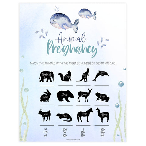 animal pregnancy baby game, Printable baby shower games, whale baby games, baby shower games, fun baby shower ideas, top baby shower ideas, whale baby shower, baby shower games, fun whale baby shower ideas