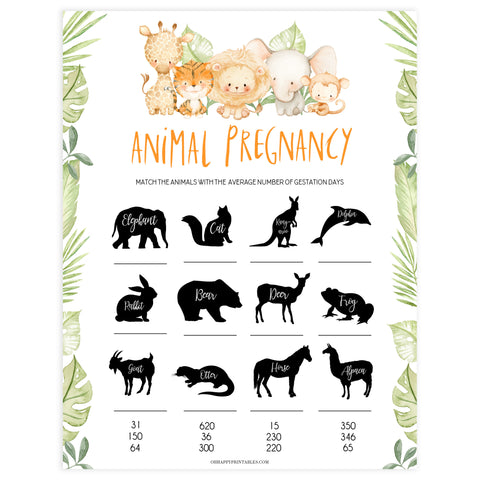 animal pregnancy game, Printable baby shower games, safari animals baby games, baby shower games, fun baby shower ideas, top baby shower ideas, safari animals baby shower, baby shower games, fun baby shower ideas