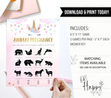 animal pregnancy baby game, Printable baby shower games, unicorn baby games, baby shower games, fun baby shower ideas, top baby shower ideas, unicorn baby shower, baby shower games, fun unicorn baby shower ideas
