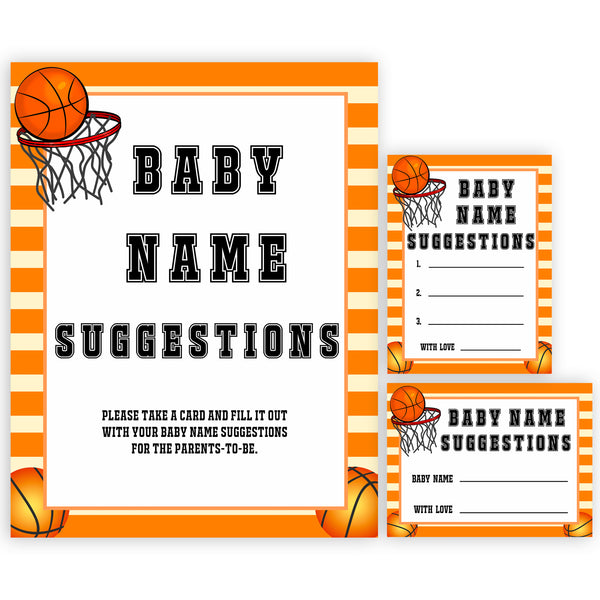 Basketball baby shower games, baby name suggestions, baby game, printable baby games, basket baby games, baby shower games, basketball baby shower idea, fun baby games, popular baby games