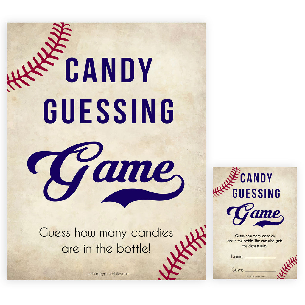 photo relating to Guess Who Game Printable known as Sweet Guessing Activity - Baseball Printable Kid Shower Game titles