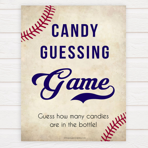 baseball candy guessing game, baseball baby shower games, fun baby shower games, popular baby shower games, printable baby shower games