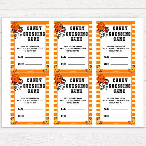Basketball baby shower games, candy guessing game baby game, printable baby games, basket baby games, baby shower games, basketball baby shower idea, fun baby games, popular baby games