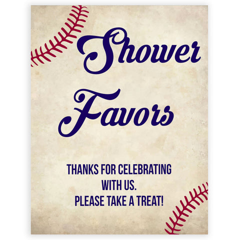 Baby Shower Favors Sign, Favors Table Sign, Baseball baby signs, baseball baby decor, printable baby shower decor, fun baby decor, baby food signs, printable baby shower ideas