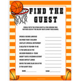 Basketball baby shower games, find the guest baby game, printable baby games, basket baby games, baby shower games, basketball baby shower idea, fun baby games, popular baby games