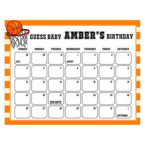 guess the baby birthday game, printable baby shower games, baby birthday prediction game, basketball baby shower games, fun baby shower ideas