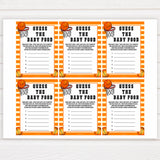 Basketball baby shower games, Guess The Baby Food baby game, printable baby games, basket baby games, baby shower games, basketball baby shower idea, fun baby games, popular baby games