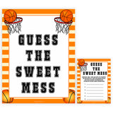Basketball baby shower games, guess the sweet mess, baby game, printable baby games, basket baby games, baby shower games, basketball baby shower idea, fun baby games, popular baby games