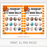 Basketball baby shower games, Pregnant or Beer Belly baby game, printable baby games, basket baby games, baby shower games, basketball baby shower idea, fun baby games, popular baby games
