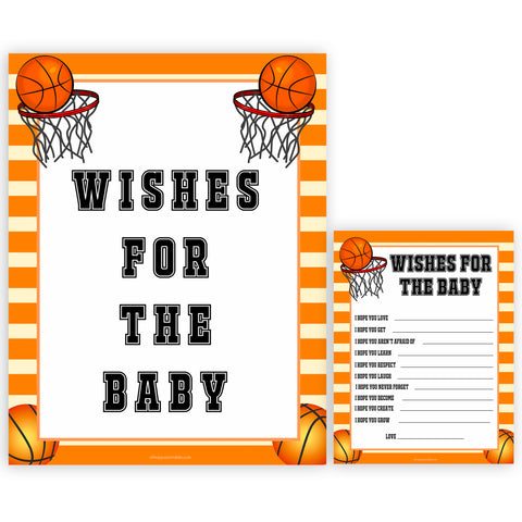 Basketball baby shower games, wishes for the baby baby game, printable baby games, basket baby games, baby shower games, basketball baby shower idea, fun baby games, popular baby games