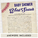 baseball baby games, baby word search, baby shower games, printable baby games, fun baby games, top 10 baby games, printable baseball baby games