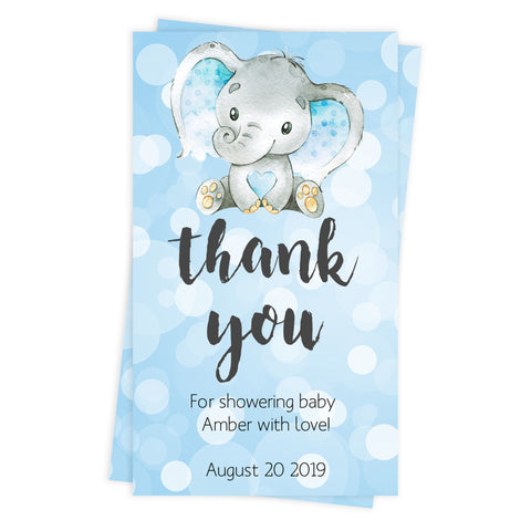 baby shower thank you tags, printable baby thank you tags, editable baby thank you tags