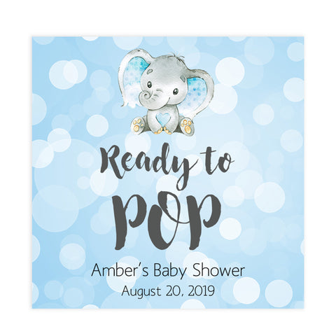 ready to pop baby tags, ready to pop tags, Printable baby shower games, fun baby games, baby shower games, fun baby shower ideas, top baby shower ideas, blue elephant baby shower, blue baby shower ideas