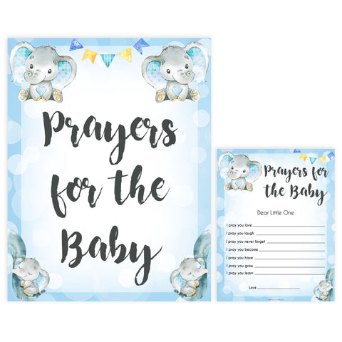 Blue elephant baby games, prayers for the baby, elephant baby games, printable baby games, top baby games, best baby shower games, baby shower ideas, fun baby games, elephant baby shower