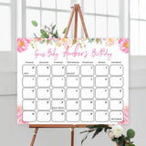 guess the baby birthday game, printable baby games, fun baby shower games, blush floral baby shower game, baby predictions game, baby shower ideas