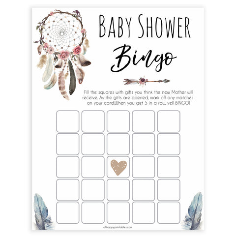 Boho baby games, baby bingo baby game, fun baby games, printable baby games, top 10 baby games, boho baby shower, baby games, hilarious baby games