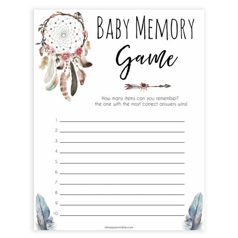 Boho baby games, baby memory baby game, fun baby games, printable baby games, top 10 baby games, boho baby shower, baby games, hilarious baby games