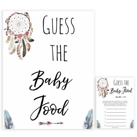 Boho baby games, guess the baby food baby game, fun baby games, printable baby games, top 10 baby games, boho baby shower, baby games, hilarious baby games