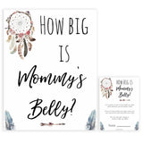Boho baby games, how big is mommys belly baby game, fun baby games, printable baby games, top 10 baby games, boho baby shower, baby games, hilarious baby games