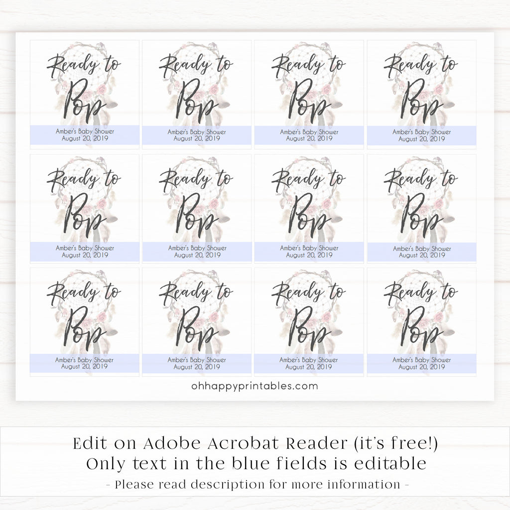 This is a photo of Ready to Pop Free Printable throughout shower printables