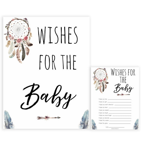 Boho baby games, wishes for the baby baby game, fun baby games, printable baby games, top 10 baby games, boho baby shower, baby games, hilarious baby games