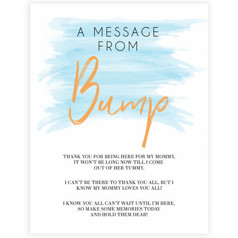 Blue swash, message from the bump baby games, baby shower games, printable baby games, fun baby games, boy baby shower games, baby games, fun baby shower ideas, baby shower ideas, boy baby games, blue baby shower