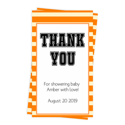 baby shower thank you tags, printable baby thank you tags, editable baby thanks you tags, basketball baby shower tags, basketball baby ideas