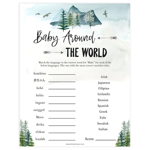 baby around the world game, Printable baby shower games, adventure awaits baby games, baby shower games, fun baby shower ideas, top baby shower ideas, adventure awaits baby shower, baby shower games, fun adventure baby shower ideas