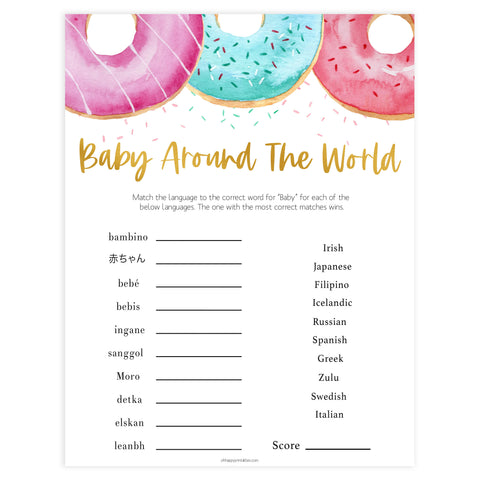 Baby Around The World - Donut