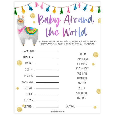 baby word scramble game, Printable baby shower games, llama fiesta fun baby games, baby shower games, fun baby shower ideas, top baby shower ideas, Llama fiesta shower baby shower, fiesta baby shower ideas