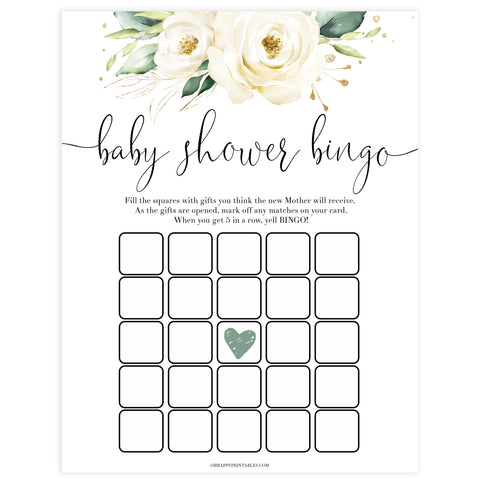 baby shower bingo game, Printable baby shower games, shite floral baby games, baby shower games, fun baby shower ideas, top baby shower ideas, floral baby shower, baby shower games, fun floral baby shower ideas